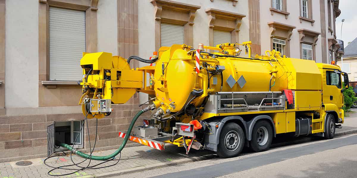 Fonctionnement du camion pompe hydrocureur
