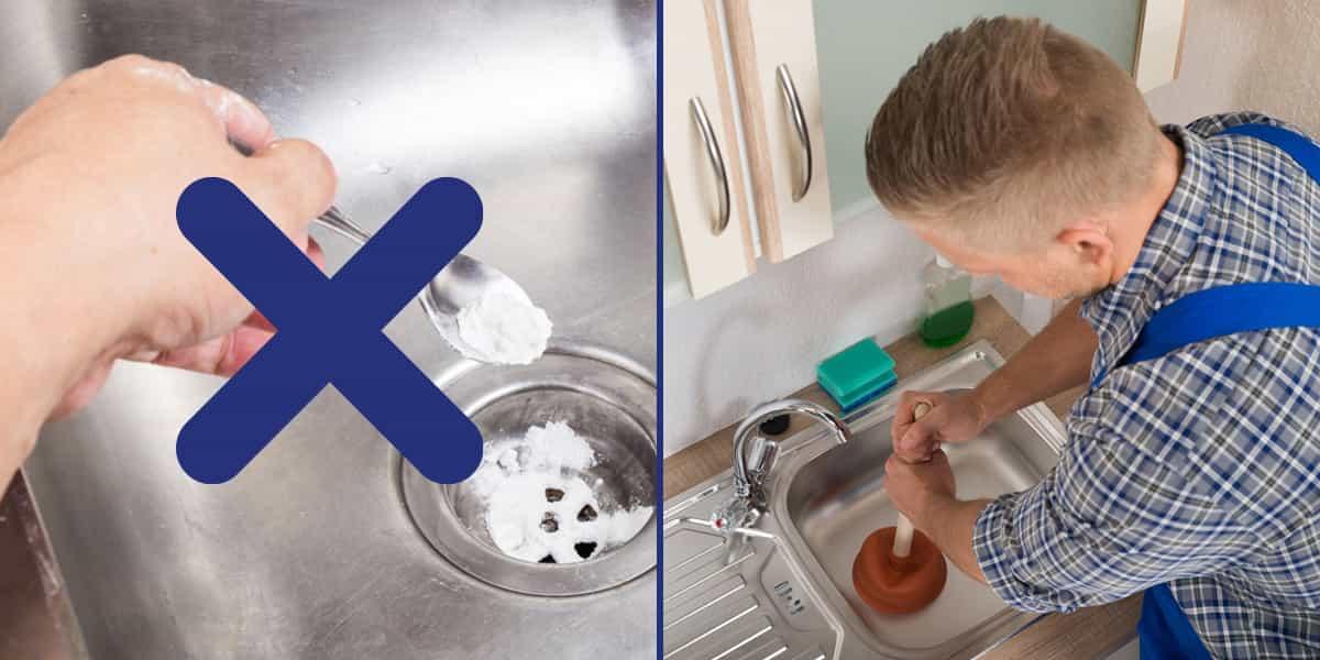 Un débouchage évier sans produits chimiques